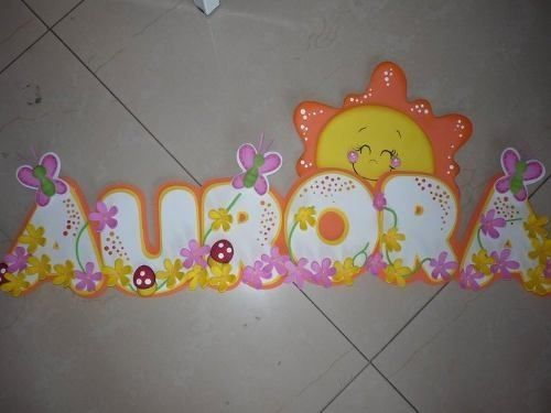 Imágenes de letras de foami decoradas , Imagui