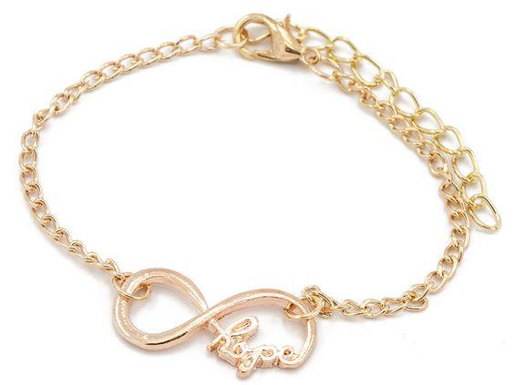 Gold Infinity Armband - www.mirobis.de