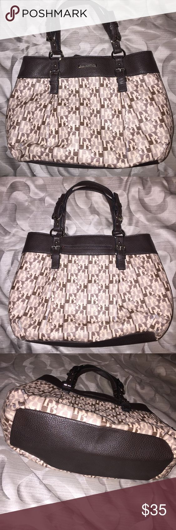 """Dana Buchman Purse Great condition, except some """"rub"""" marks where creases are on bag. Dana Buchman Bags Shoulder Bags"""