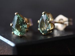 hello, gorgeous green sapphires.