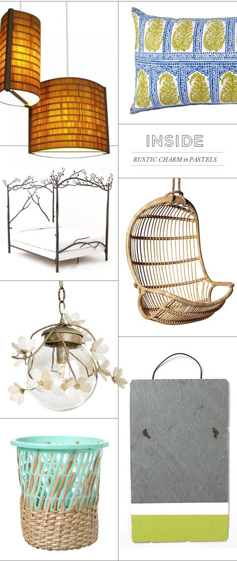 Love @Joy Cho / Oh Joy!'s picks for a grown-up treehouse, with our Hanging Rattan Chair.