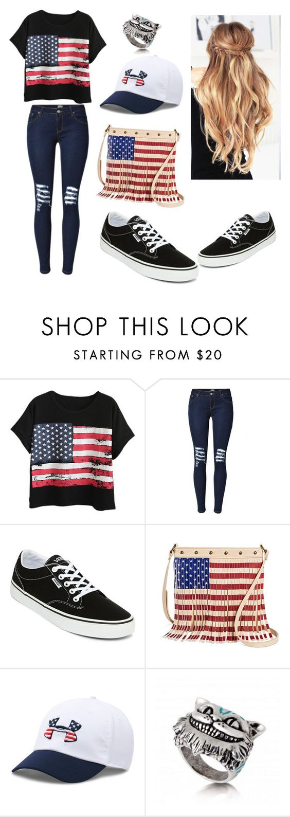 """Untitled #138"" by courtneybells ❤ liked on Polyvore featuring beauty, Chicnova Fashion, Vans, Twig & Arrow and Under Armour"