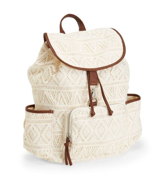 Crochet Backpack - Aeropostale. Maybe backpack for next year?