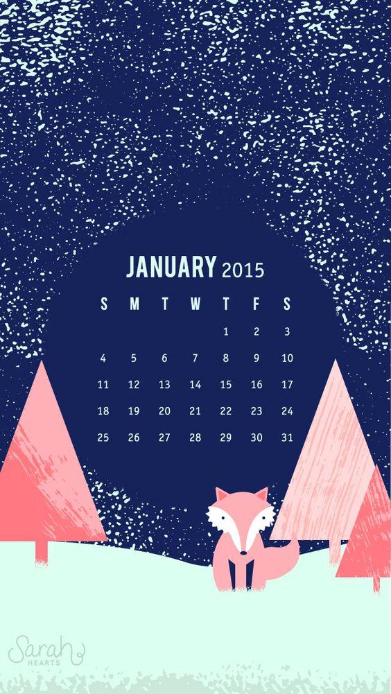 Calendar Lockscreen : January calendar iphone phone and wallpapers on