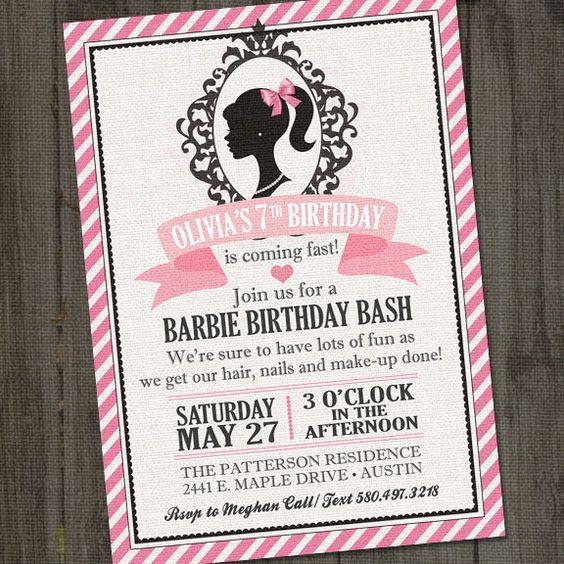 Birthdays, Barbie And Etsy On Pinterest