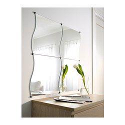 Pax wardrobe white stained oak effect mirror and ikea for Miroir krabb ikea