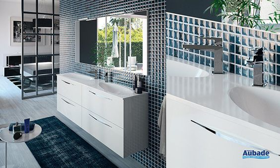 Meuble sous-vasque Cedam Slim Salle de bain Pinterest