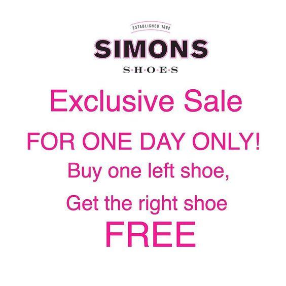 Exclusive sale for the start of April. Just enter promo code: APRILFOOLS  #shopping #April #aprilfools #shoes #sale #fashion #simonsshoes #instashoes #bogo