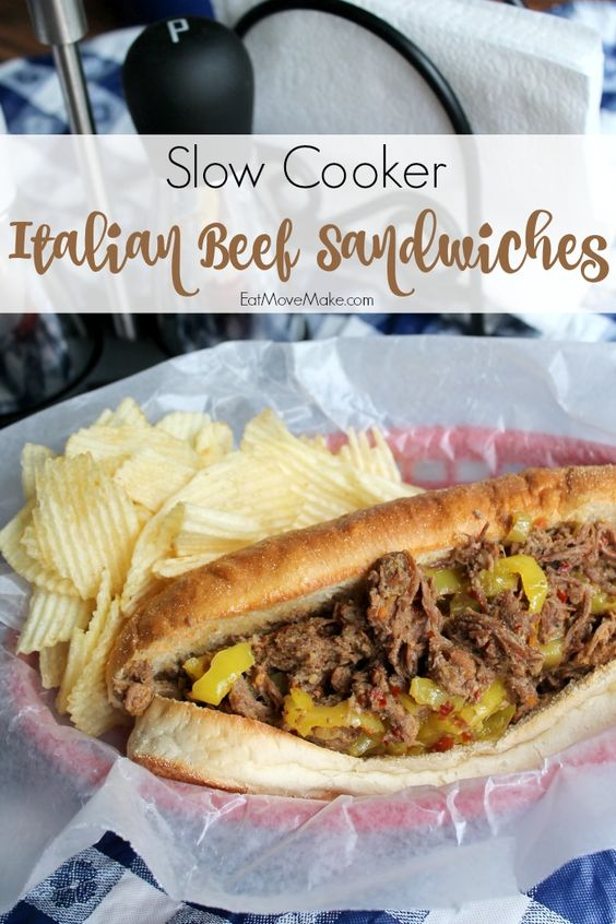 Slow cooker italian beef, Italian beef and Italian beef sandwiches on ...