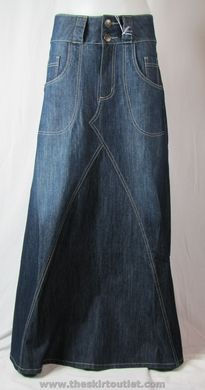 nice denim skirt... I am making one today but different than this :)