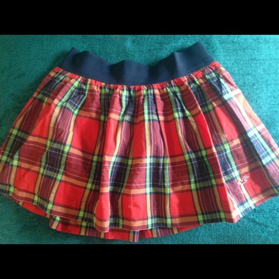 Hollister Plaid Skirt Red Plaid Hollister Skirt Hollister Skirts Mini
