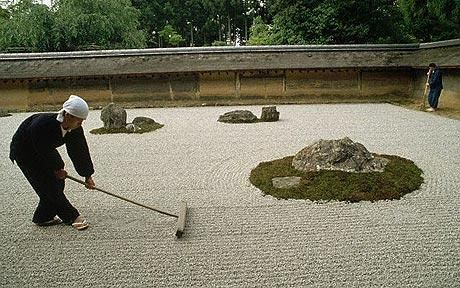 In Kyoto, the Buddhist monks have grown so worried by the changing climate's damaging effect on the gardens that they have taken to watering their gardens manually, rather than relying on rain and dew. One of those affected is Ryoan-ji, the world's most famous Zen garden, where more than a hundred different types of moss sit together in elaborate harmony.