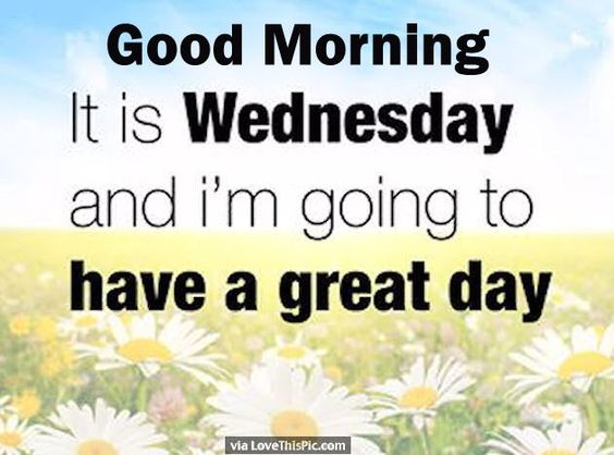 Good Morning Have A Great Day Quotes : Good morning its wednesday and i am going to have a great