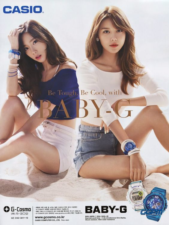 #SNSD #GIRLSGENERATION #CASIO #GG #BABYG #TAEYEON #SOOYOUNG More of SNSD's hot and cool pictures for Casio Watches ~ Wonderful Generation