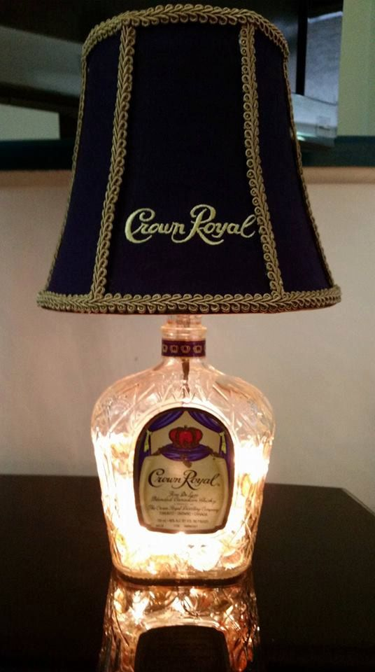 Up Cycled Crown Royal Lamp Lamp trim & style may vary. Made to Order, may take up to 7 days.