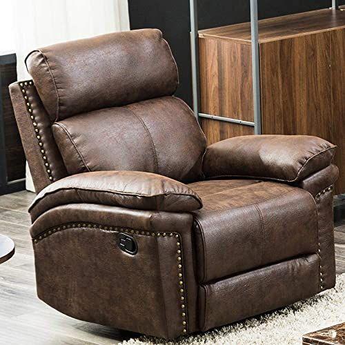 New Romatpretty Recliner Couch Leather Sofa Single Sofa Home