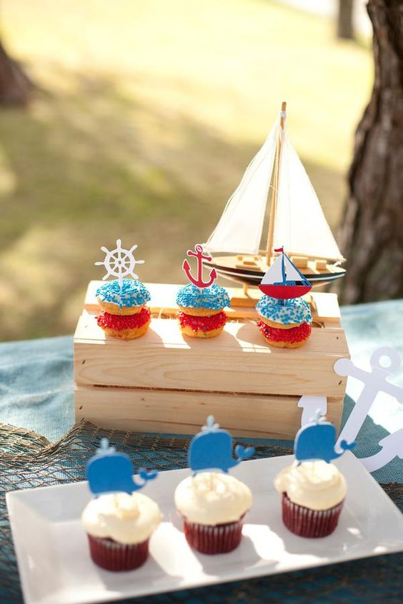 nautical themed baby showers baby shower cupcakes baby showers cupcake