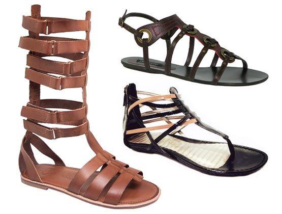 Sandalias gladiador, tendencia verão 2015