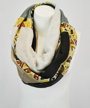 Black & Gray Abstract Infinity Scarf by Leto Collection http://www.zulily.com/?SSAID=930758&tid=acceleration_930758 #zulily #zulilyfinds