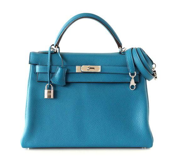 fake birkin bags - Hermes Kelly Bag 32cm Rare Mou Bleu Izmir Togo Palladium Hardware ...