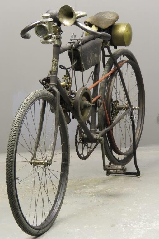 Clement 1902 Type B 143cc 1 Cyl Ohv 2802 Yesterdays Powered Bicycle Antique Bicycles Old Bicycle