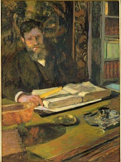 """Édouard Vuillard """"Un Lecteur."""". Jean-Édouard Vuillard (November 11, 1868– June 21, 1940) was a French painter and printmaker associated with the Nabis."""