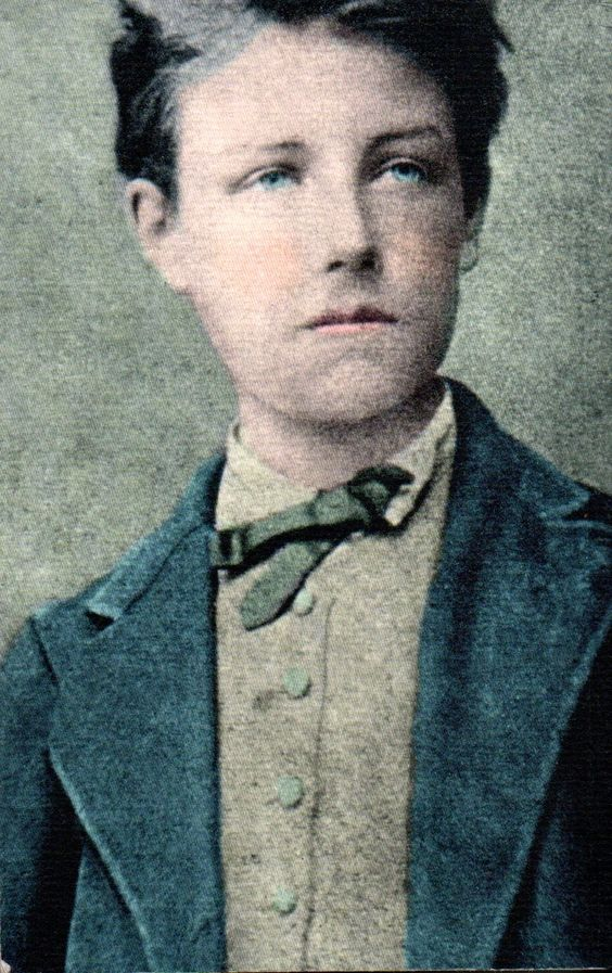 Jean Nicolas Arthur Rimbaud age 17, likely in December 1871: