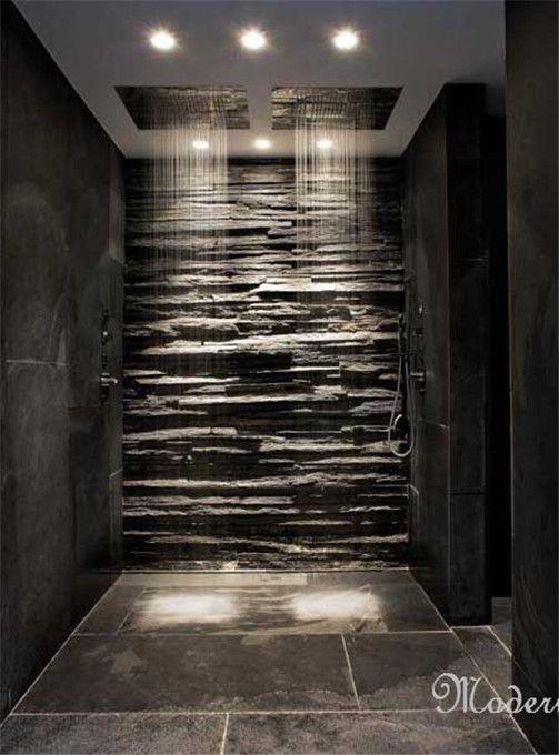 #Showers Beautiful Slate Shower Room http://www.warmwelcomeproperties.com