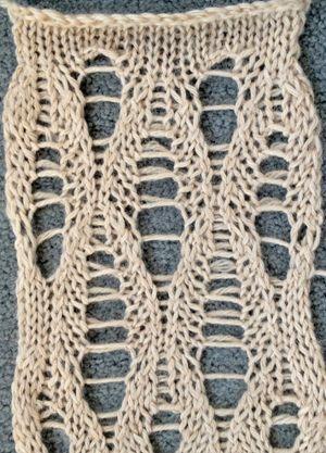 Ladder Lace Knitting Pattern : Ladder lace stitch pattern knitting - technique and ...