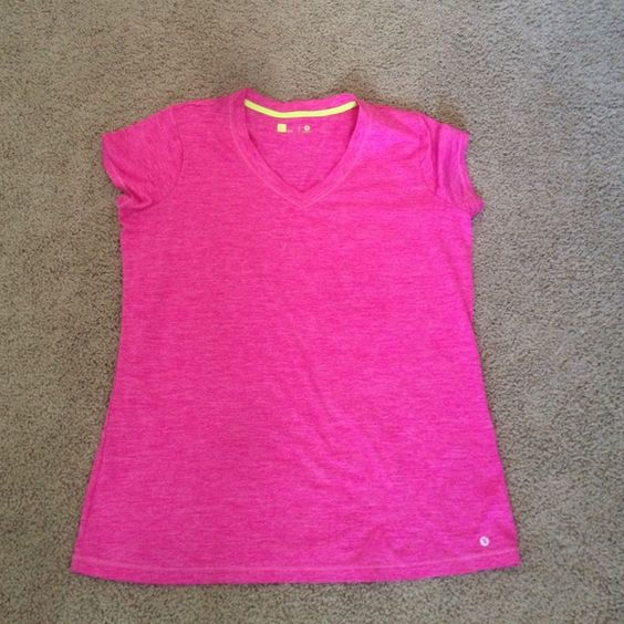Pink heathered exercise shirt. Nwot never worn. Target Tops