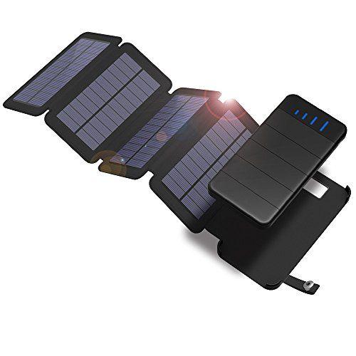 Solar Charger Xdragon 10000mah Detachable Solar Power Bank With 4 Solar Panels Dual Usb Port Waterproof Fo Solar Charger Solar Power Bank Solar Battery Charger