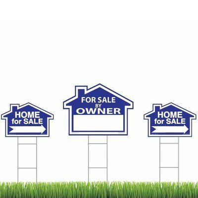 Addresses Of Distinction 3 Pack Blue For Sale By Owner Sign Kit