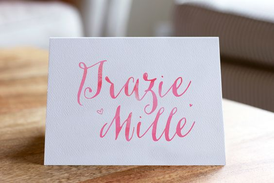 Grazie Mille Notes by The Charm Studio