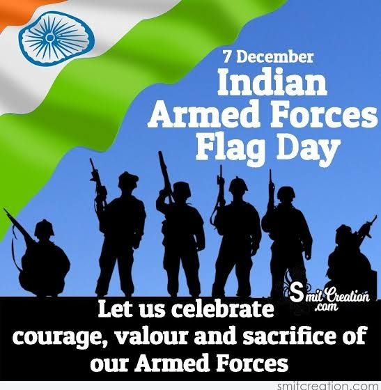 Indian Armed Forces Flag Day December 7th With Images Armed Forces Flag Day Armed Forces Day