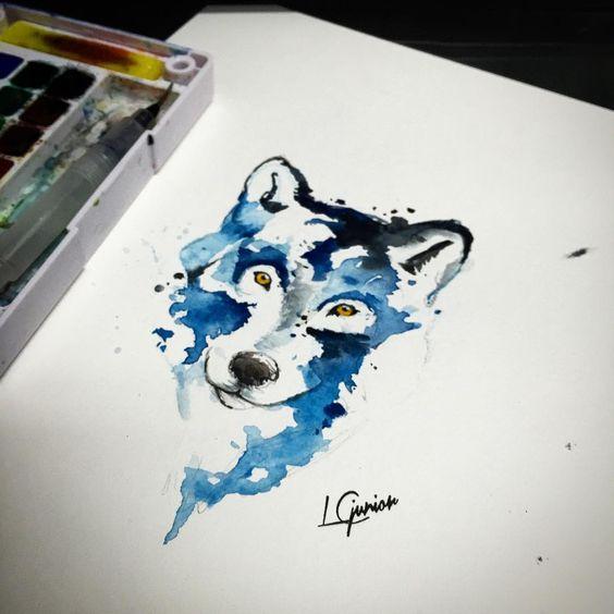 • Lobo disponível para tatuar • galera em breve teremos novos horários  #lcjunior #aquarelle #aquarela #wolf #lobo #tattoo
