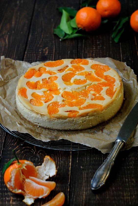"""Veganer Mandarinen-""""Käse""""kuchen"""