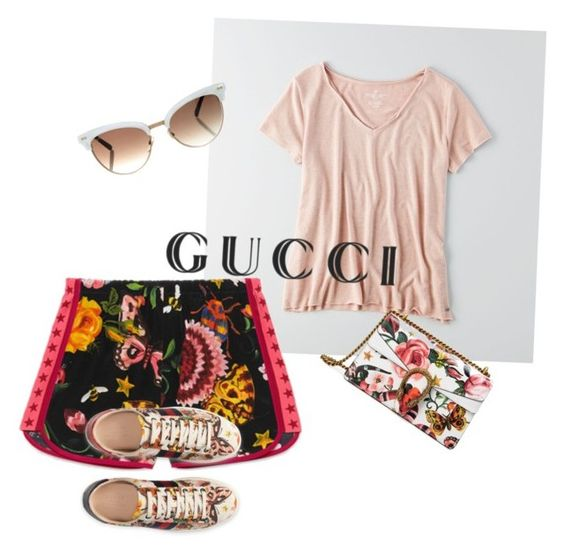 Presenting the Gucci Garden Exclusive Collection: Contest Entry by mpeeler on Polyvore featuring polyvore fashion style American Eagle Outfitters Gucci clothing gucci