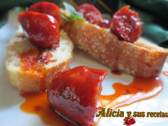 Alicia y sus recetas: CHORICITOS A LA SIDRA