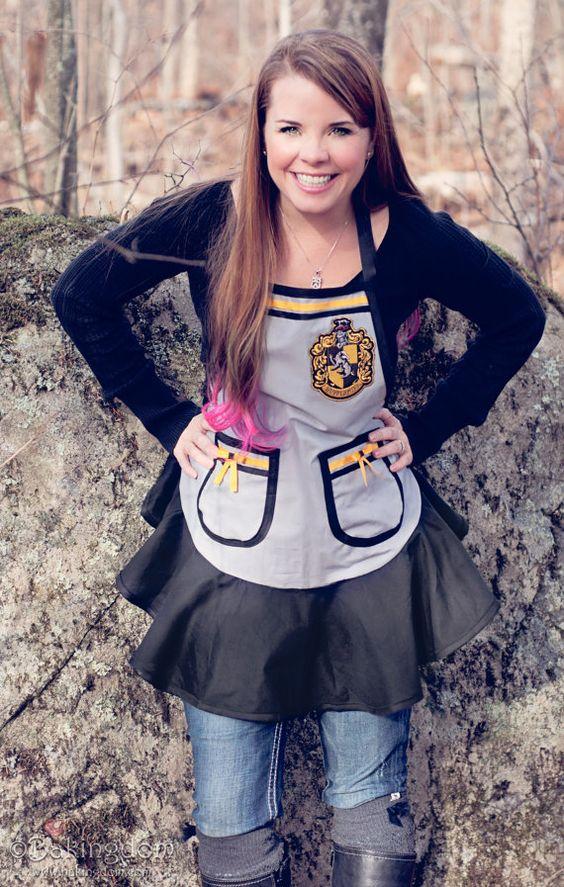 My Hufflepuff apron, available on Etsy