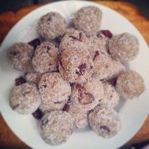 Cranberry Protein Balls
