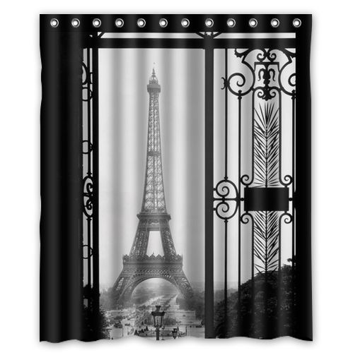 Custom Shower Curtain 60 X72 6 Fitted With C Shaped Curtain