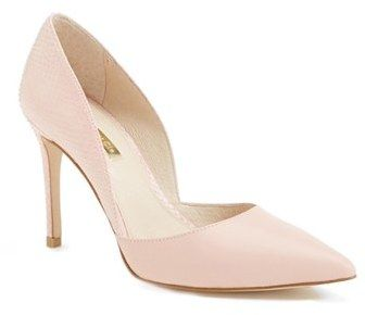 Louise et Cie 'Hermosah' Pump (Women), blush pump, work shoes http://www.shopstyle.com/action/loadRetailerProductPage?id=457288078&pid=uid7609-25959603-56