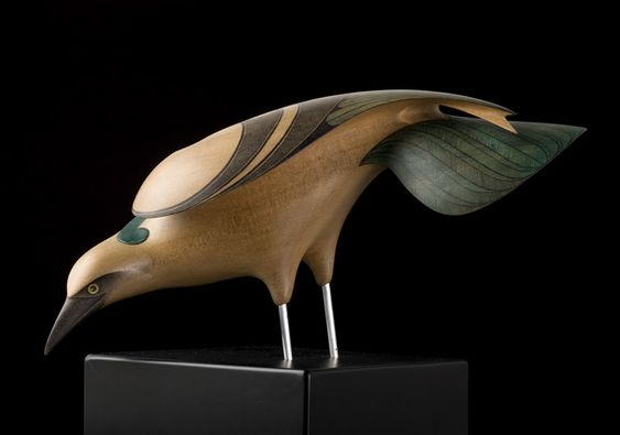 Raven • New Zealand Raven by Rex Homan, Māori artist (KR70805):