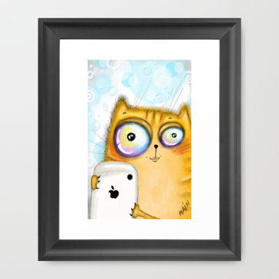 apple+Framed+Art+Print+by+main+-+$33.00