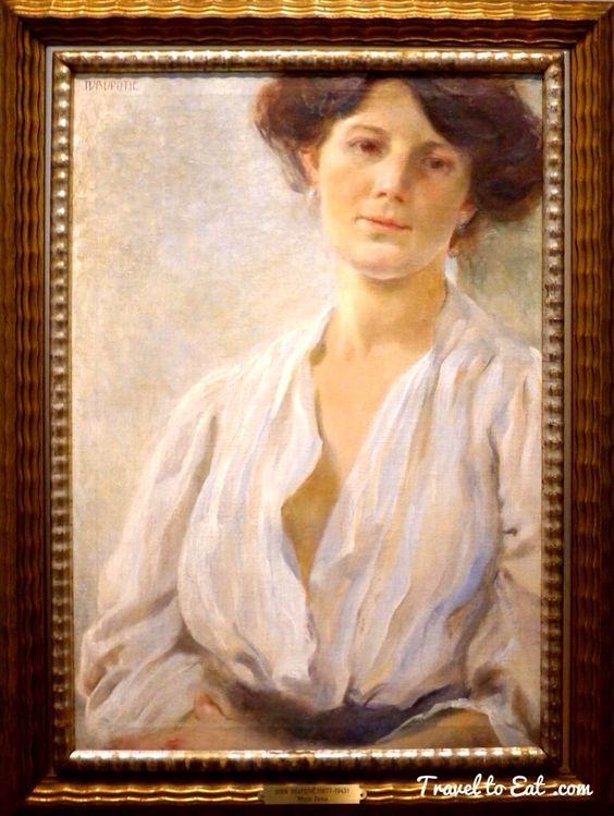 Portrait de as Femme, Marija by Ivan Vavpotič 1905-1908. Gallerie National de Slovénia, Ljubljana, Slovenia. Slovenian Impressionists 1880-1920. Petit Palais, Paris
