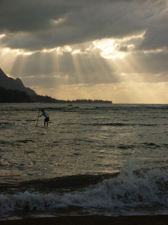 Stand Up Paddling, Hanalei Bay, Kauai | Kauai Sports Photographer