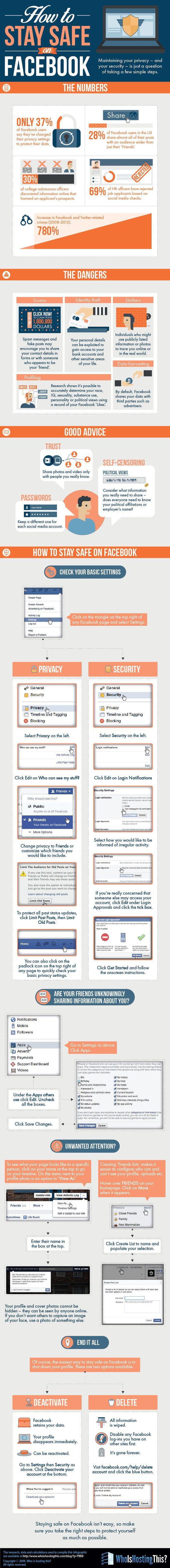 Tipps zur #Sicherheit auf #Facebook - #Infografik Infographic: How to stay safe on Facebook