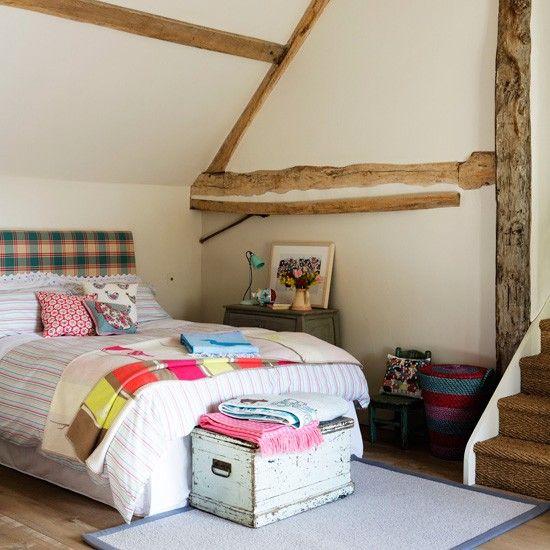Rustikales Schlafzimmer mit Karos und Streifen Wohnideen Living Ideas