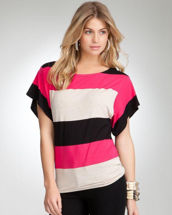 bebe | Colorblock Stripe Kimono Top 52.99