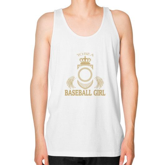 Baseball girl Unisex Fine Jersey Tank (on man)